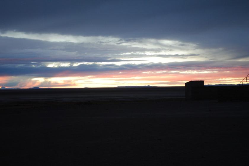 Sunrise in Uyuni, Bolivia